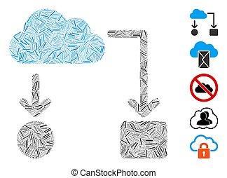 Hatch Mosaic Cloud Flow Chart Icon