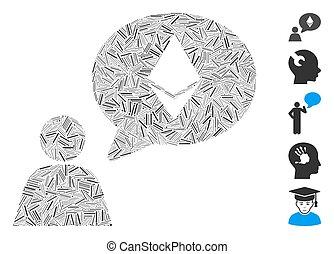 Hatch Mosaic Ethereum Thinking Person Icon