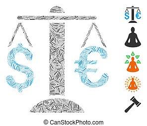 Hatch Mosaic Euro Dollar Balance Icon