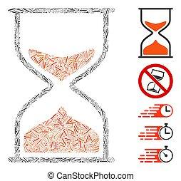 Hatch Mosaic Hourglass Icon