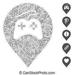 Hatch Mosaic Video Games Marker Icon