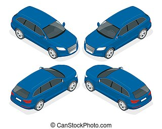 Hatchback car. High quality city transport icon. - Hatchback...