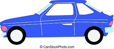 hatchback - vector illustration of hatchback