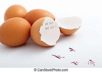 Hatched egg