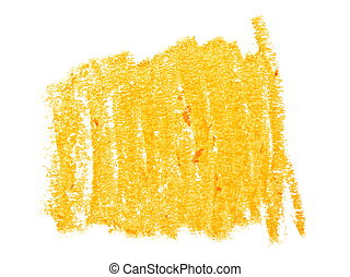 hatched yellow wax pastel crayon