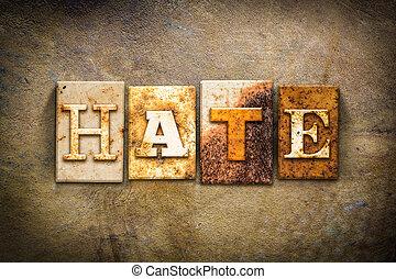 Hate Concept Letterpress Leather Theme