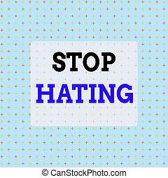 hating., actuación, wholeheartedly, escritura, todos, texto,...