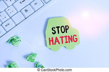 hating., significado, texto, verde, escritura, sin, copia,...