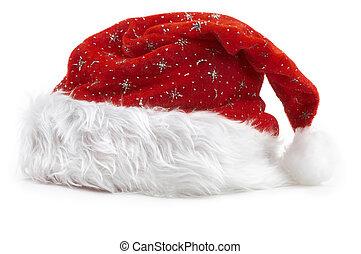 hat(isolated), santa