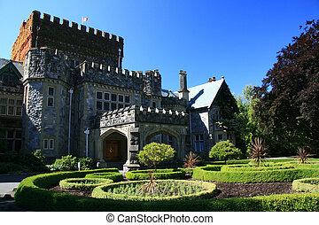 hatley, castelo, victoria, bc, canadá