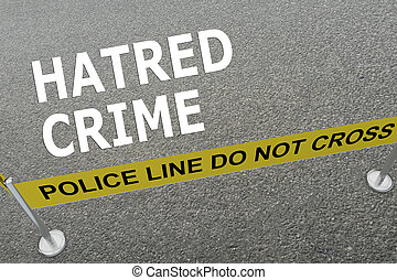 Hatred Crime concept