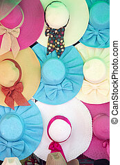hats, colourful