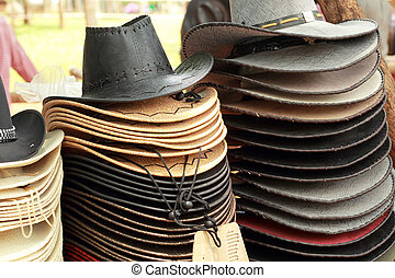 Hats for sale at the market