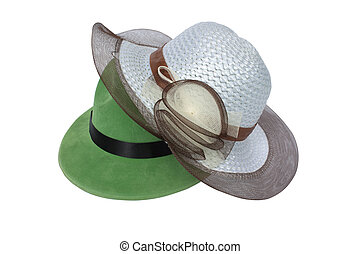 Hats - Pretty hat isolated on white background, hat isolated...