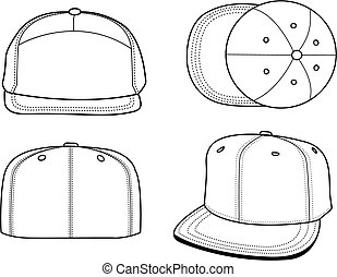 Blank Hat Templates Set Of Including Two Ball