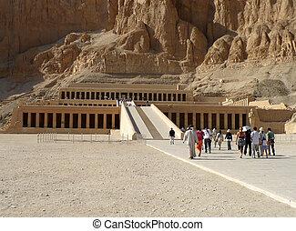 hatshepsut, エジプト, 寺院, ルクソール