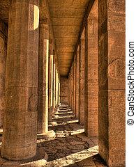 hatshepsut, 寺院, コラム, (egypt)