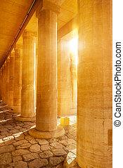 hatshepsut, temple, colonnes
