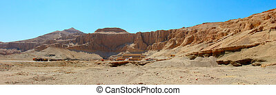 hatshepsut, vue, temple, panoramique
