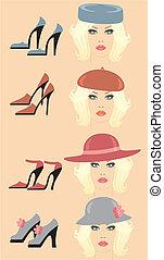 hattar, kvinnors skor