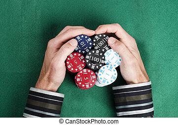haufen , poker- späne
