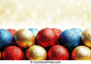 haufen, von, weihnachten, kugeln
