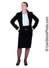 Haughty businesswoman