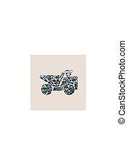Haul or dump truck vector icon.