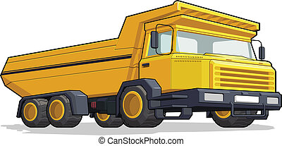 Haul Truck/Construction Truck - A vector image of a isolated...