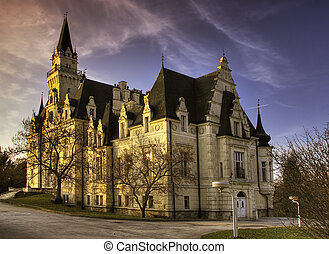 Haunted castle in Slovakia Manor in village Budmerice