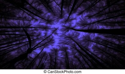 Haunted Forest - Abstract footage - haunted forest with...