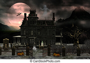 Haunted house 2 - creepy house with ghosts and creatures