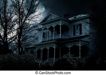 Haunted House - An image of a haunted house