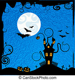 Haunted House Means Trick Or Treat And Astronomy - Haunted...