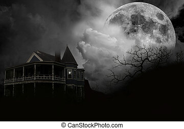 Haunted House - A haunted house scene I created with...