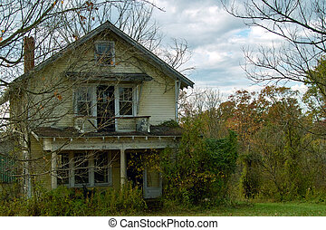 Haunted House - A house in such disrepair that it looks like...
