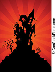 An image of a haunted mansion.
