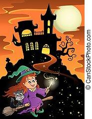 Haunted mansion Halloween theme