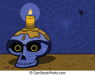 Haunted Skull Cartoon