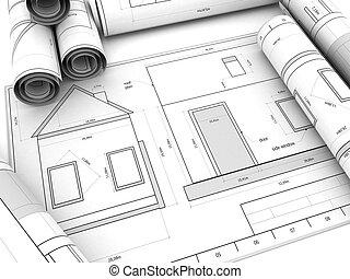 haus bauplaene bauplaene haus aus abbildung clipart suche illustration zeichnung. Black Bedroom Furniture Sets. Home Design Ideas