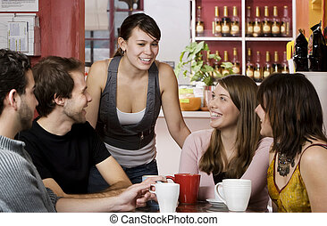 haus, bohnenkaffee, friends