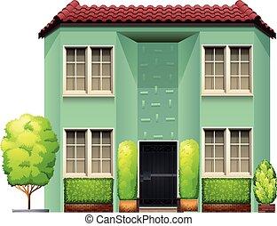 garage ledig t r geschlossene t r wohnhaeuser hand garage ledig gezeichnet karikatur. Black Bedroom Furniture Sets. Home Design Ideas