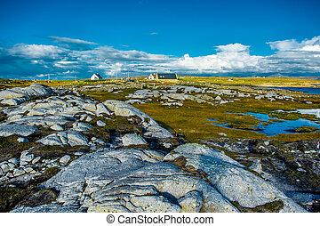 haus, entfernt, irland, connemara