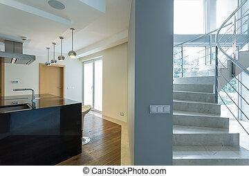 stockbild von gang treppengel nder treppe modern glas t ren gang csp22142565 suche. Black Bedroom Furniture Sets. Home Design Ideas