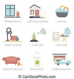 reiniger w sche reinigenden haus reiniger satz piktogramm wand wasser sterilisieren. Black Bedroom Furniture Sets. Home Design Ideas