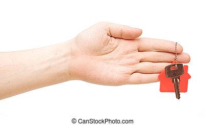 haus- schlüssel, hand
