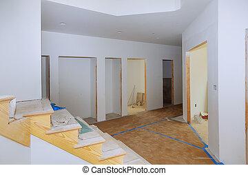 haus, unter, neu , baugewerbe, architektonisch, wohnhaeuser, inneneinrichtung, daheim