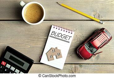 haushalt, begriff, budget