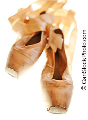hausschlappen, ballett, well-worn, bedingung