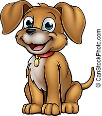 haustier, karikatur, hund